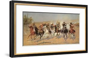 Cowboy Gunbattle by Frederic Sackrider Remington