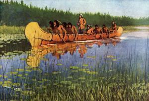 Explorers and Indians, 1905 by Frederic Sackrider Remington