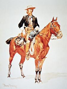 Lieutenant S.C. Robertson, Chief of the Crow Scouts, from a Watercolour of 1890 by Frederic Sackrider Remington