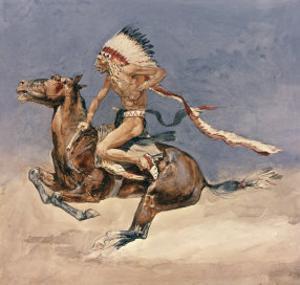 Pony War Dance by Frederic Sackrider Remington