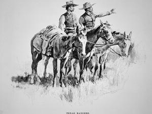 Texas Rangers, Published in 'Harper's Monthly', 1896 by Frederic Sackrider Remington