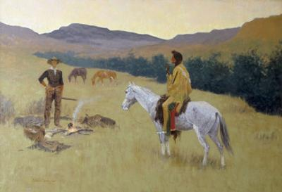 The Conversation, or Dubious Company by Frederic Sackrider Remington