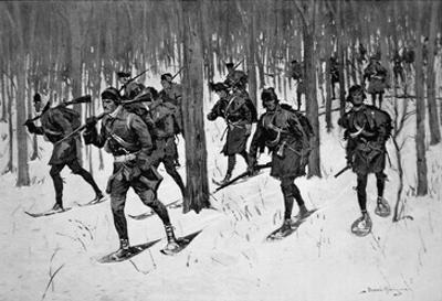 The March of Rogers Rangers (Litho)