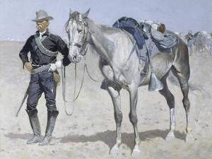 Trooper of the Plains by Frederic Sackrider Remington