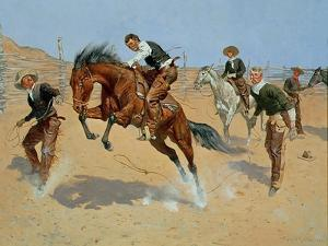 Turn Him Loose, Bill, c.1893 by Frederic Sackrider Remington