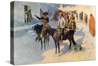 Zebulon Pike Entering Santa Fe, Illustration Published in 'Collier's Weekly', 1906