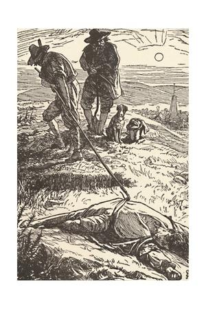 'Illustration from 'History of the Plague' (Defoe)', 1862, (1923)