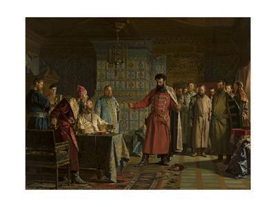 Zakhary Lyapunov's quarrel with the Tsar Vasili Shuisky at Kremlin, 1886
