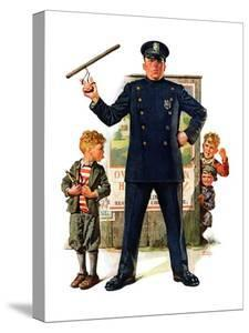 """""""Policeman and Boy with Slingshot,""""March 15, 1930 by Frederic Stanley"""