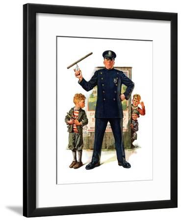 """Policeman and Boy with Slingshot,""March 15, 1930"