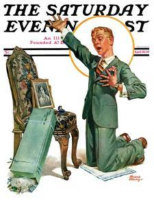 """""""Practice Proposal,"""" Saturday Evening Post Cover, April 30, 1927 by Frederic Stanley"""