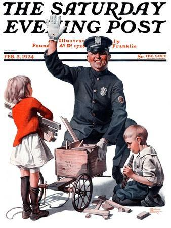 """""""Soapbox Wreck,"""" Saturday Evening Post Cover, February 2, 1924"""