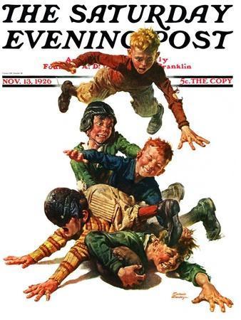 """Tackle,"" Saturday Evening Post Cover, November 13, 1926"