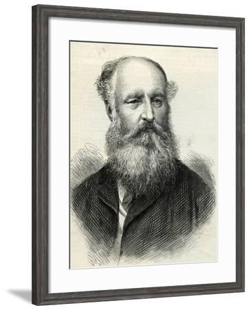 Frederick Arrow (D.1875) from the 'Illustrated London News' 31st July, 1875--Framed Giclee Print
