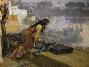 Cleopatra on the Terraces of Philae, 1896 by Frederick Arthur Bridgman
