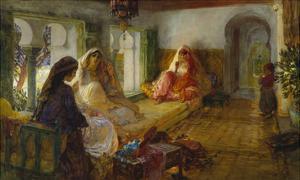 In the Seraglio by Frederick Arthur Bridgman