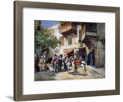 Oriental Street with Donkeys