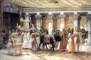 The Procession of the Sacred Bull Apis, Late 19th or Early 20th Century by Frederick Arthur Bridgman