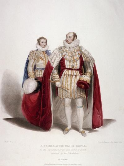 Frederick Augustus, Duke of York in the Coronation Dress and Robes of Estate, 1824-Samuel William Reynolds-Giclee Print