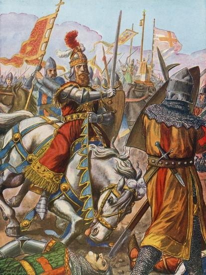 Frederick Barbarossa Is Wounded at the Battle of Legnano, 1176-Tancredi Scarpelli-Giclee Print