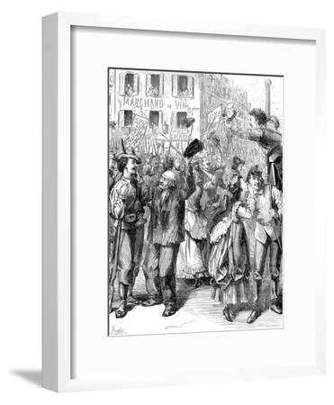 Defence of Paris: Students Going to Man the Barricades, Franco-Prussian War, 1870