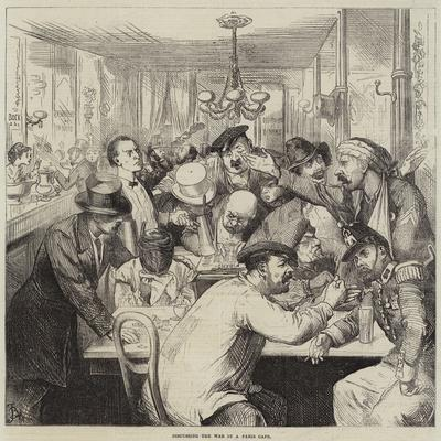 Discussing the War in a Paris Cafe