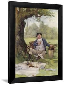 Mr. Pickwick Picnics by Frederick Barnard