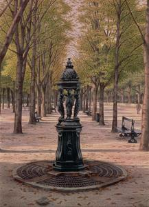 Fontaine Wallace on the Champs Elysees, 1996 by Frederick Brosen