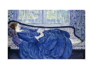 Girl in Blue by Frederick Carl Frieseke