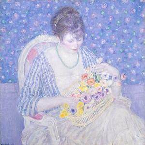 The Basket of Flowers, 1913-17 by Frederick Carl Frieseke