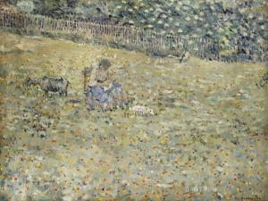 Woman and Goat by Frederick Carl Frieseke