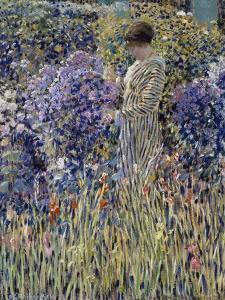 Woman in Garden, Circa 1912 by Frederick Carl Frieseke