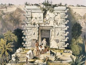 Gateway of the Great Teocallis, from 'Views of Ancient Monuments in Central America, Chiapas and… by Frederick Catherwood