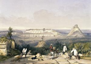 General View of Uxmal, Taken from the Archway of Las Monjas, from 'Views of Ancient Monuments in… by Frederick Catherwood