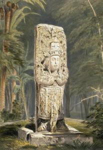 Idol at Copan by Frederick Catherwood