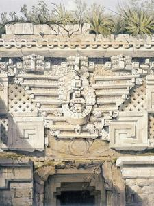 Ornament over Principal Doorway at Casa Del Gobernador, from 'Views of Ancient Monuments in… by Frederick Catherwood