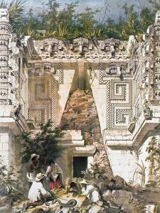Palace of the Governors, Uxmal, Yucatan, Mexico, 1844 by Frederick Catherwood