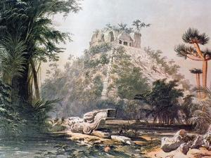 View of El Castillo, 1844 by Frederick Catherwood