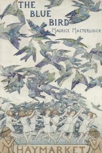 Design For Playbill For The Bluebird, 1909 by Frederick Cayley Robinson