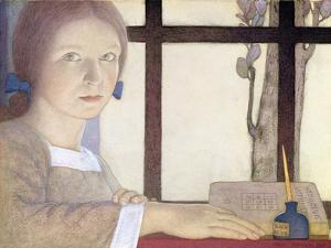 Lesson Time by Frederick Cayley Robinson
