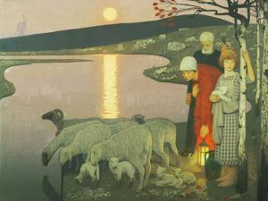 Pastoral by Frederick Cayley Robinson