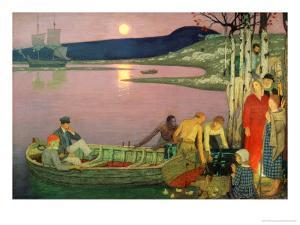 The Call of the Sea, 1925 by Frederick Cayley Robinson
