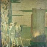 The Landing of St Patrick in Ireland, 1912-Frederick Cayley Robinson-Giclee Print