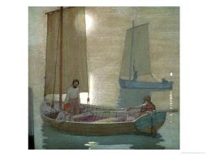 The Three Brothers, circa 1897 by Frederick Cayley Robinson