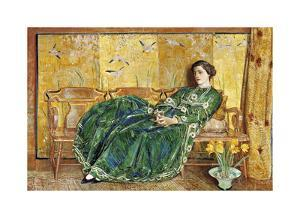 April: The Green Gown by Frederick Childe Hassam