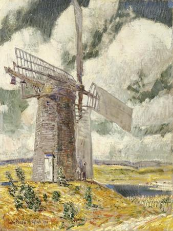 Bending Sail on the Old Mill. 1920
