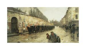 Cab Station, Rue Bonaparte, 1887 by Frederick Childe Hassam