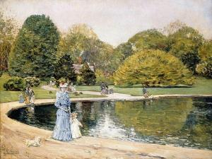 Central Park by Frederick Childe Hassam