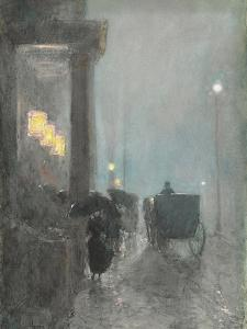 Fifth Avenue, Evening. Ca. 1890-93 by Frederick Childe Hassam