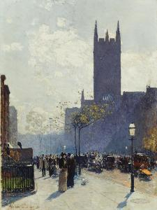 Lower Fifth Avenue. 1890 by Frederick Childe Hassam
